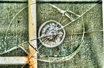 Photo: A broken window: I'm surprised we don't spend more time being amazed by this incredible material... solid yet transparant. Isn't that mind-blowing?
