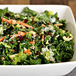 Poppy Seed Kale Salad.