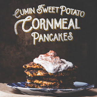 Cumin Sweet Potato Cornmeal Pancakes