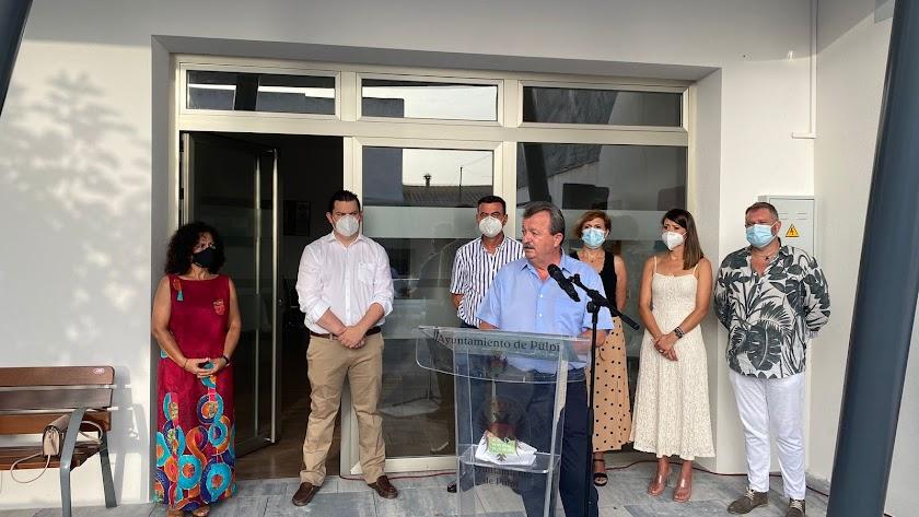 Acto de inauguración del Centro Social de Pozo Higuera.