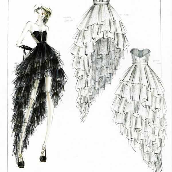 How can i draw fashion dresses