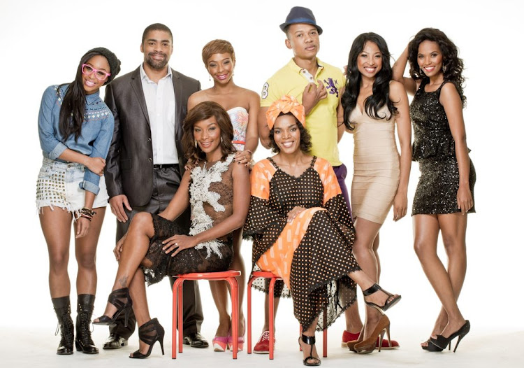 Boity Thulo, third from left, back row, as Mpho in Rockville
