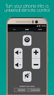 Universal Remote for HTC One Screenshot