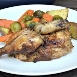 Caribbean Sweet & Spicy Cornish Hens.