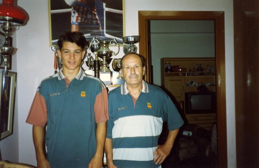 Con Fernando Serra, su entrenador.