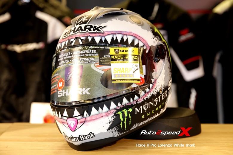 SHARK HELMET RACE R PRO LORENZO WHITE SHARK
