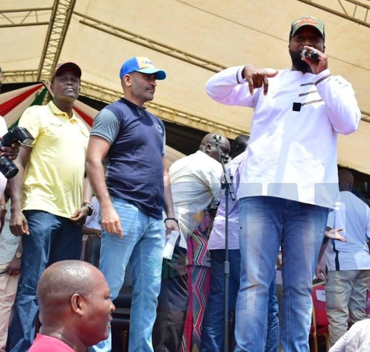 Mvita MP Abdulswamad Nassir and Mombasa Governor Hassan Joho at the BBI rally at Mama Ngina Waterfront Park, Mombasa, on Saturday, January 25, 2020.