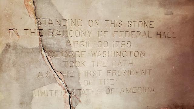 Inaugural balcony at Federal Hall