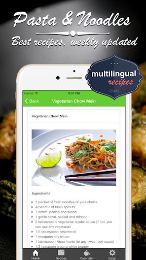 玩健康App|意大利麵食和東方麵條 食譜。快速和容易的烹飪最好的食譜和菜餚免費|APP試玩