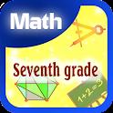 Seventh grade math icon