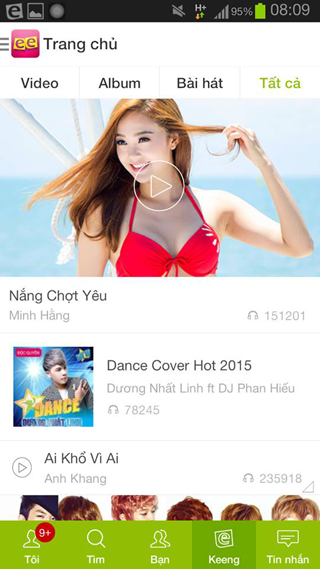 Keeng.vn: Music social network- screenshot