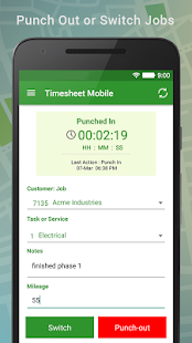 Employee Time Clock with GPS- screenshot thumbnail