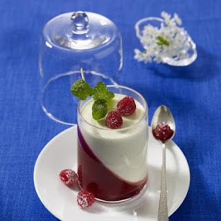 Panna Cotta with Raspberry Jelly.