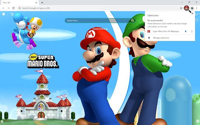 Super Mario Bros HD Wallpaper New Tab