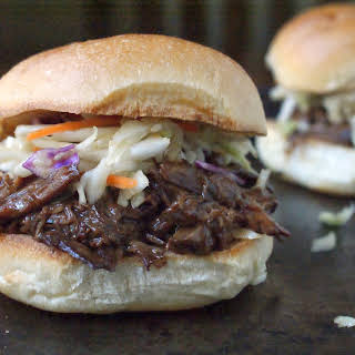 Sweet Korean BBQ Sandwiches with Spicy Asian Slaw.