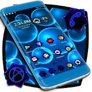Black Blue Smart Launcher 3d