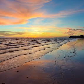 Boracay Sunset by Philip Familara - Landscapes Sunsets & Sunrises ( nature, sunset, beach, \, landscape, colors, colorful,  )