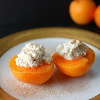 Pitted Apricot with Sweetened Vanilla Ricotta.
