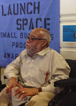Photo: Larry Henderson, Executive Director of Independent Resources, Inc. speaks at the LaunchSpace Program Dolphin Tank event on March 12, 2015. The LaunchSpace Program was made possible by funding from the DDC