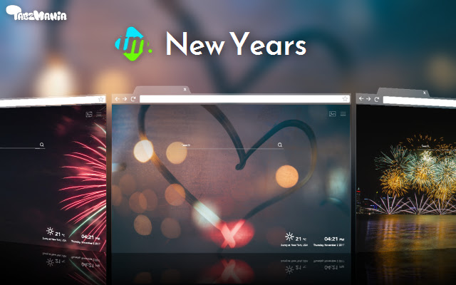 Happy New Year Backgrounds & New Tab