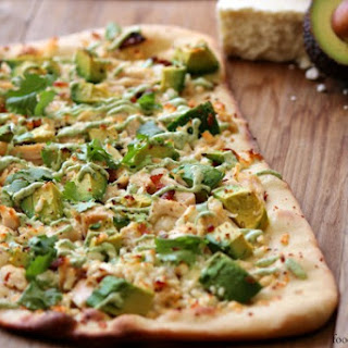 Avocado and Chicken Flatbread.