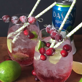 Sparkling Cranberry Lime Mocktail.