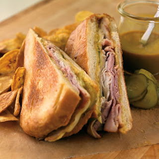 Smoked Pork Leg Pastrami Cubano with Sweet and Spicy Mustard BBQ Sauce.