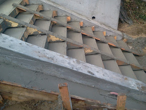 Photo: Close-up of results of third and final pouring of concrete, by San Francisco Department of Public Works (DPW), on Hidden Garden Steps (16th Avenue, between Kirkham & Lawton streets, in San Francisco's Inner Sunset District); latest work--replacing damaged flight of steps--was done on March 8, 2013. For more information about the Hidden Garden Steps project, please visit http://hiddengardensteps.org and/or follow us on Twitter (@gardensteps), Facebook (Hidden Garden Steps), and Google+.
