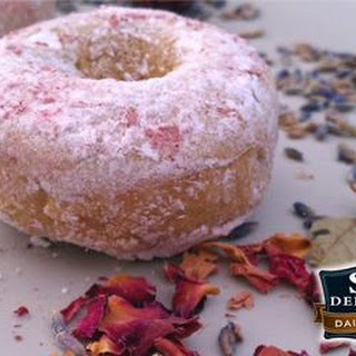 Baked Lavender Rose Donuts Recipe
