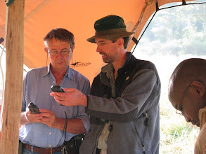 Photo: Quentin and Tim comparing GPS's... (Photo - Matt Brown)
