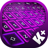Glow Purple Keyboard