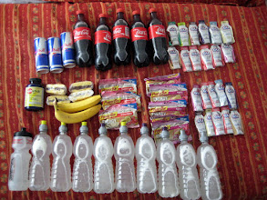 Photo: Food for IronPunta 2011 race day (2 athletes)...yes we consumed all of this.