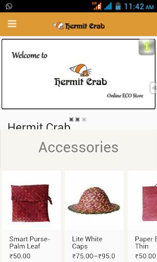 Hermit Crab- The eco store app