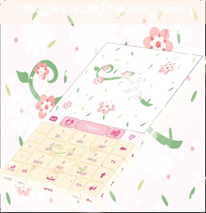 Pink Love Heart Keyboard Theme - náhled