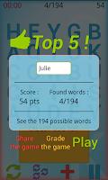 Screenshot of Word Jumble
