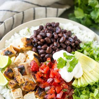 Burrito Bowls with Chicken.