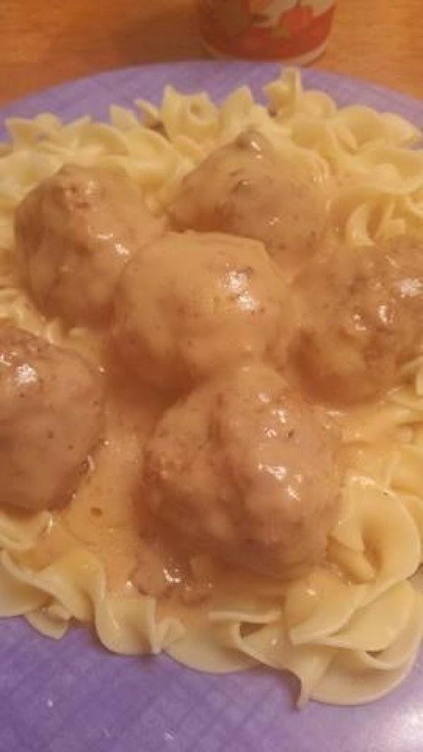 Sour Cream Meatballs In Cream Of Chicken Soup Recipe