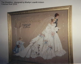 "Photo: The first ""Wedding"" that I stitched - done for friends."