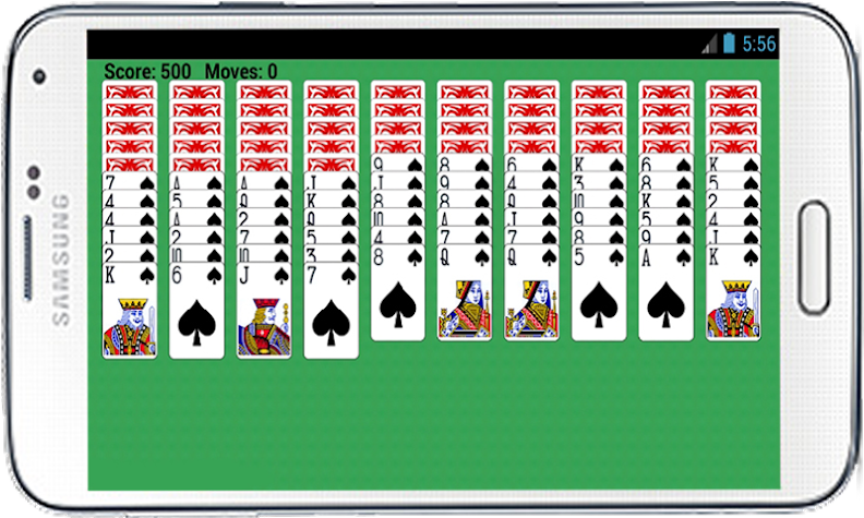 Spider Solitaire Free Game Screenshot