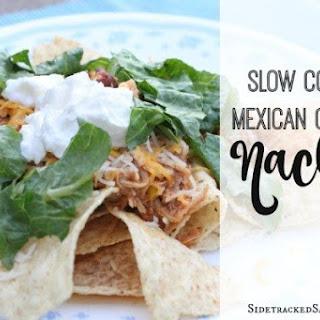 Slow Cooker Mexican Chicken Nachos.