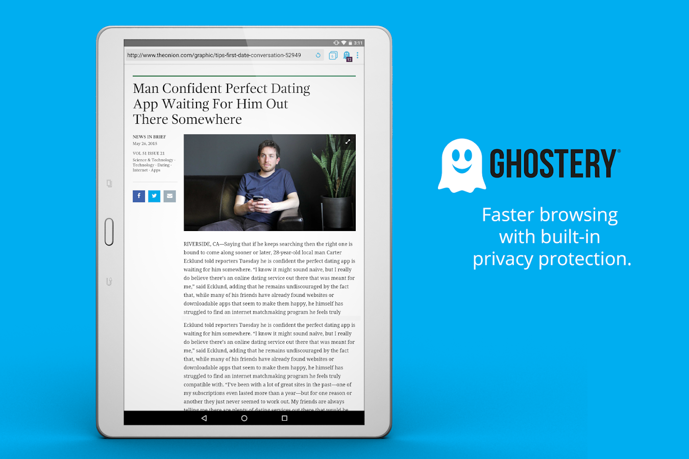 Ghostery Privacy Browser- screenshot