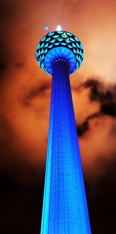 The Kaula Lumpur Tower by Kiran Nasir - Travel Locations Landmarks ( landmark, excellence, building, pwclandmarks, architecture, night shot )
