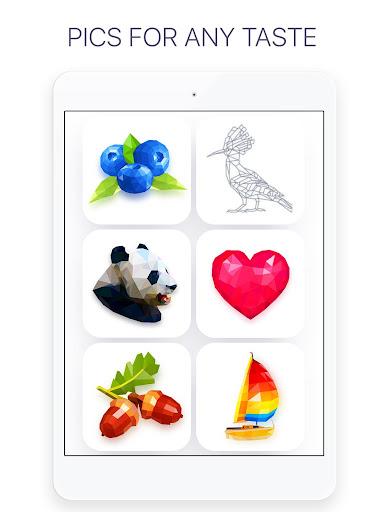 Poly - Coloring Puzzle Art Book screenshot 9