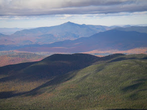 Photo: The pointed peak of Whiteface Mountain from Mount Marcy.