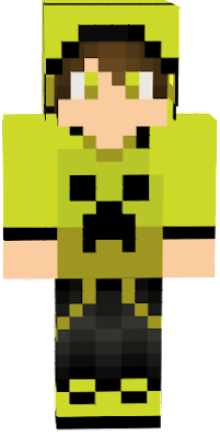 GIVE CREDIT TO Z31T~ PRIVATE SKIN BY Z31T ------------------------------------------ This is a guy wearing a hoodie (with a creeper face on it, and its collored gold) he is also wearing pants and shoes that are gold. His eyes are also gold.