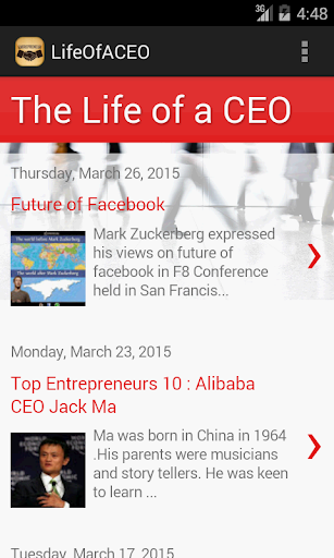 The Life Of a CEO