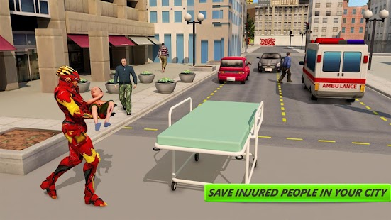 Iron Hero City Rescue Game - náhled