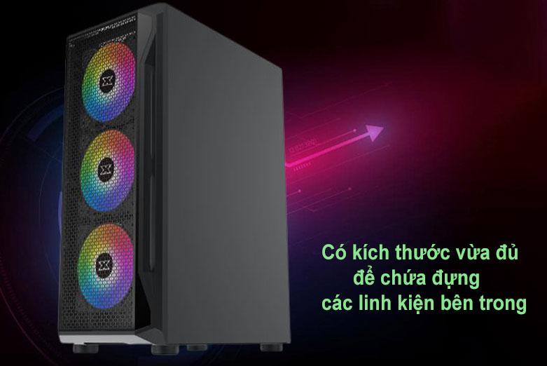Case Xigmatek GAMING X 3FX (3 FAN X20ARGB) Đen (EN46188) | Kích thước vừa đủ