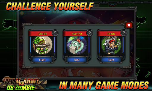 Metal Army vs US Zombies: Tower Defense