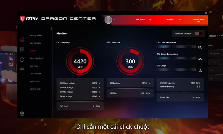 VGA MSI GeForce RTX 3060 VENTUS 2X 12G OC | Phần mềm quản lý tối ưu